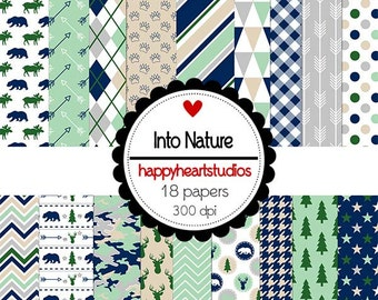 Digital Scrapbook  IntonNature-INSTANT DOWNLOAD