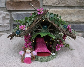 Fairy Pixie Play House with LED white lights
