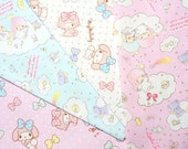 My Melody fabric Scrap  25 cm by 50  cm or 9.6 by 19.6 inches