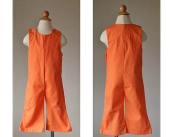 1960s Mandarin Overalls~Size 2t/3t