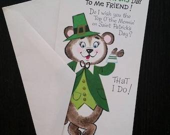 Vintage St. Patricks day card (free US  shipping)