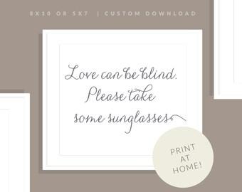 Gray Printable Sunglasses Sign   Printable Sunglasses Sign   Downloadable Wedding Sign   Printable Reception Sign   Jessica Collection