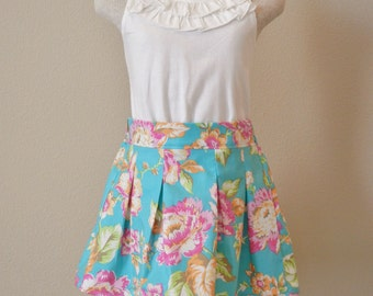 Child cotton pleated skirt.  Ready to ship in 2-3 & 4-5 sizes.