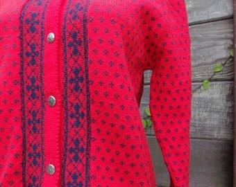 SALE 40% OFF Vintage 70's Wool Pendleton Ladie's Sweater Like NEW Med