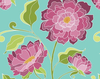 Halle Main in Teal Cotton Fabric by Lila Tueller for Riley Blake Designs - 1 Yard