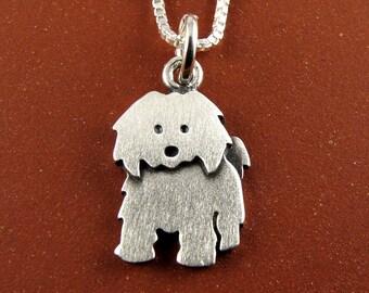 Tiny Coton de Tulear necklace / pendant