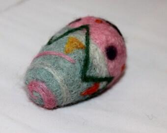 Easter Egg, Needle Felted Easter Egg, Felted easter Egg. Needle Felted Easter Decoration #1010