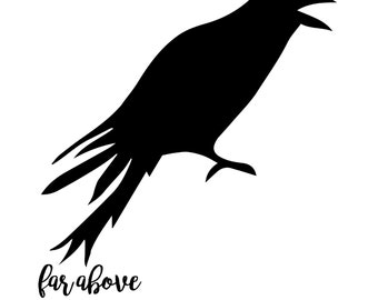 Crow Raven SVG digital cut file for Silhouette or Cricut - great for Halloween or Pumpkins!