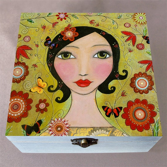 Girl large jewelry box make up storage gift box make up for Girls large jewelry box