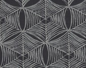 SALE - Free Spirit Fabrics Parson Gray Curious Nature Spiderweb SATEEN in Tailcoat - Half Yard