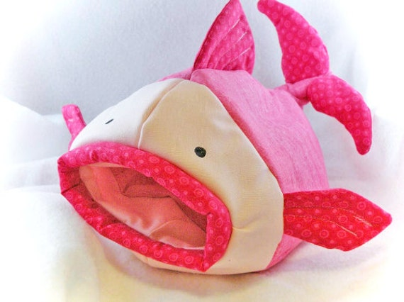 Rosy Pink Fishie Fish Snuggle Sleep Sack Bed for Hedgehogs and Pocket Pets
