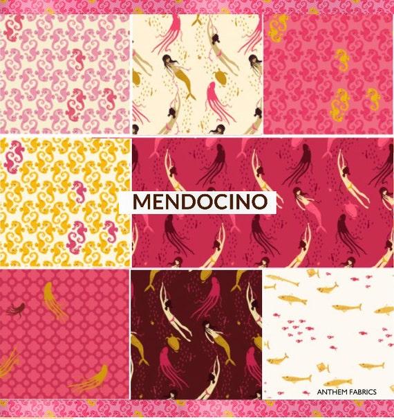 Mendocino Heather Ross Windham Fabrics Fat Quarter 8 Pc Set
