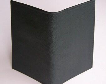 Top Stub Checkbook - Forest Green Textured Leather Checkbook Holder