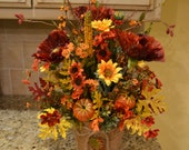 Fall Poppy and Sunflower Arrangement