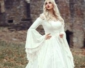 Limited time Custom Order! Gwendolyn Princess Fairy Medieval Velvet and Lace Wedding Gown Your size/color