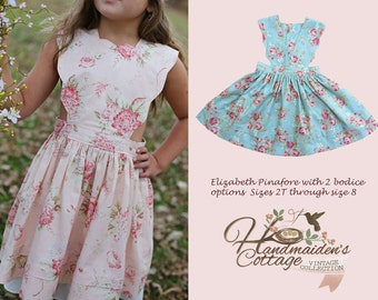 Elizabeth Pinafore PDF Pattern Sizes 2T through size 8