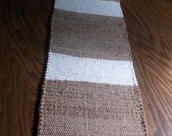 Handmade woven runner, (Driftwood)-164b