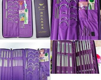 104 pcs Knit Set Stainless Steel Knitting Needles