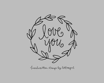 Snail Mail Stamp: Love You, Handwritten