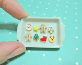 Dollhouse Miniature Christmas Cookies Tray
