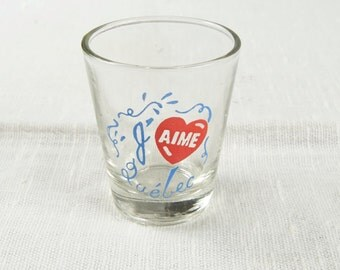 J'aime Quebec Shot Glass