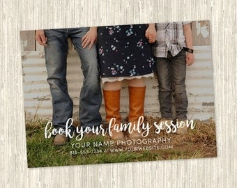 Booking Family Sessions Photography Marketing Card | One-Sided 5x7 PSD | Photoshop Template | MM8015 | Instant Download