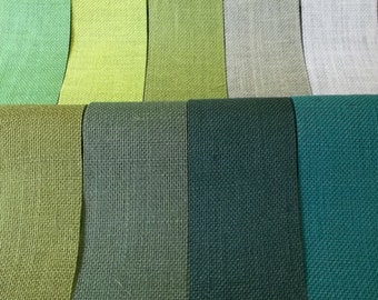 TEAL BURLAP Fabric By the Yard - 58 - 60 inches wide
