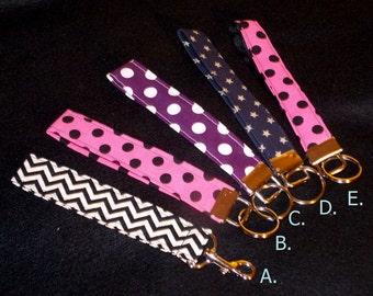 Fabric Key Chain, Key Fob, Wristlet