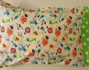 Monster Band Pillow Case, Approx. 20 inch X 31 inch, Cotton Flannel