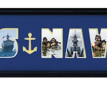 Military Frames/US NAVY DOUBLEMAT 8 x 26 Mat Only