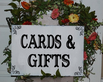 Wedding CARDS and GIFTS TABLE, 12x6, Self-Standing Gift Card Table sign