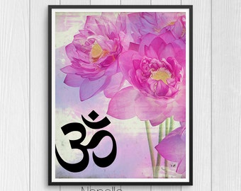 Om Printable Wall Art - Yoga Digital Download - Printable Art - Print Your Own Images for Home Decoration - Decoupage Paper