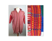 Vintage 70s Dashiki Top OS Handmade in South America Self-Fringed Boho