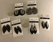 Recycled Bicycle Inner Tube Earrings - RESERVE for ES