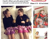 The Night Before PJ Pants and Shorts PDF sewing pattern Sizes 1/2-16