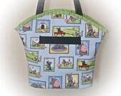 FREE Ship USA Canada - J Castle Boutique Bag - Mary Engelbreit Dogs Scotty Dog Designer Fabric - (Quick Ship)