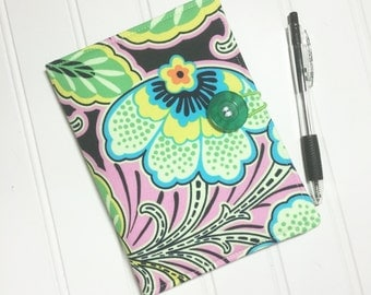 SUMMER SALE - Mini Shopper - Notepad holder List taker - Amy Butler LOVE