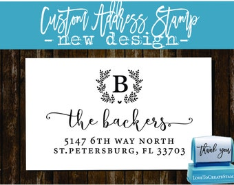 Custom Return Address Stamp - Custom Calligraphy Stamp - Handwriting Script - Personalized SELF INKING Wedding Stationery Stamper - (159)