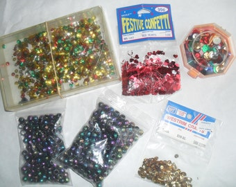 Sequins Heart Sequins Pony Beads