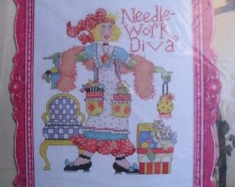 Embroidery Needlework Kit Diva Bucilla Kit NIP