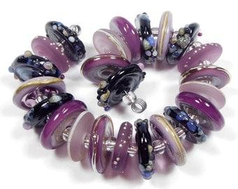 Quinlan Glass Midnight VIneyard Handmade Lampwork Glass Beads