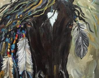 Horse Painting WARRIOR Pony