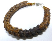 Genuine snake vertebrae bracelet * unisex jewelry