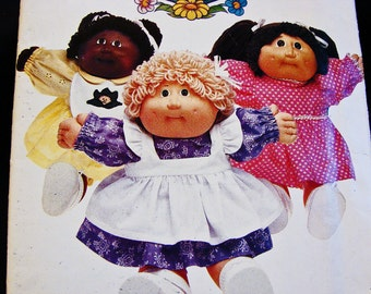 Cabbage Patch Doll Clothes Pattern 16 inch doll Clothes Sewing Pattern Doll Dress Pinafore Panties Pattern
