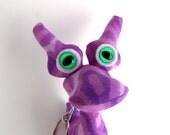 Cute Keychain, Keychain, Alien Keychain, Monster Keychain, Zipper Pull, Backpack Buddy by Adopt an Alien named Lanie