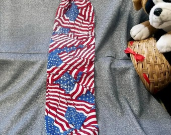 Plastic Bag Holder Sock, Tossed American Flags Print