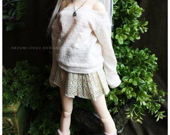 ABJD Dollfie CP Delf SD Musedoll cute patterned tiered skirt