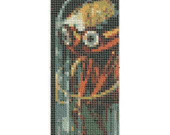 PATTERN: Bug-Eyed Monster Cross Stitch Bookmark Pattern