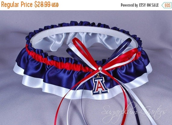 University of Arizona Wildcats Wedding Garter