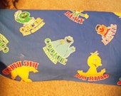 Vintage Sesame Street Fabric  Material Spectrix Fabrics reservered for chaleydergat